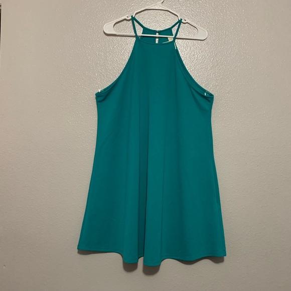 Forever 21 Dresses & Skirts - Forever 21+ Turquoise Halter Sleeveless Dress